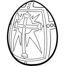 religious easter egg to color printable - Coloring Pages Of Easter Eggs