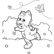 the riff - Barney Coloring Pages