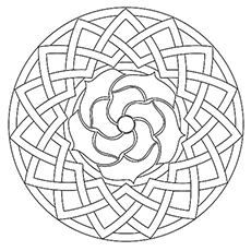rose geometric shape coloring pages