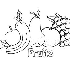 Fruits Pic to Color