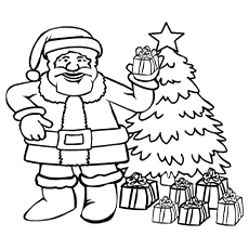 santa clause arrives on christmas day coloring pages to print