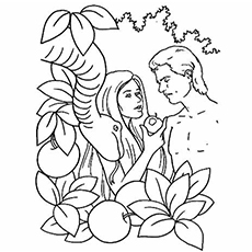 Adam and eve sinned coloring page murderthestout for Coloring pages adam and eve