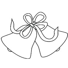 Simple Bell with a Ribbon Coloring Pages