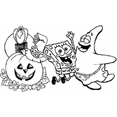 25 amazing disney halloween coloring pages for your little ones - Coloring Pages Spongebob Halloween