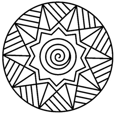stars and swirls coloring pages - Geometric Coloring Pages