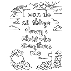 the strength of the lord1 - Coloring Pages Bible