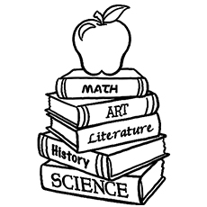 different subjects books coloring pages - School Coloring Sheets