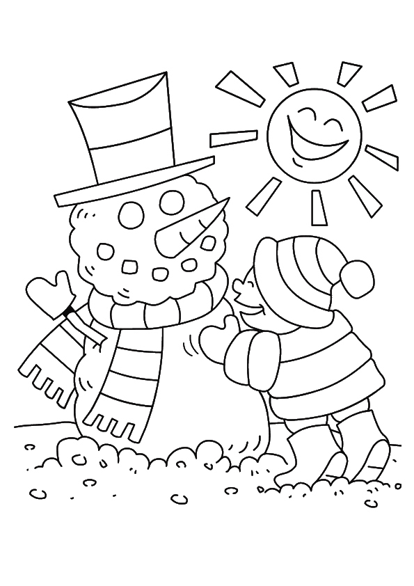 The-sun-and-the-snowman