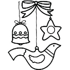 Things For Christmas Tree Decoration Coloring Pages
