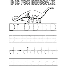 Coloring Page of Tracing the letter D