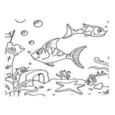 Underwater Ruins Coloring Pages