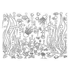 Brilliant Underwater Coloring Page For Kids Summer Pages