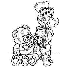 Valentines Day Coloring Page to Print