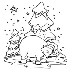 the winter polar bear winter polar bear coloring pages