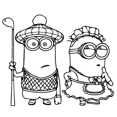 Bon Tim Boy And Tim Girl Coloring Pages