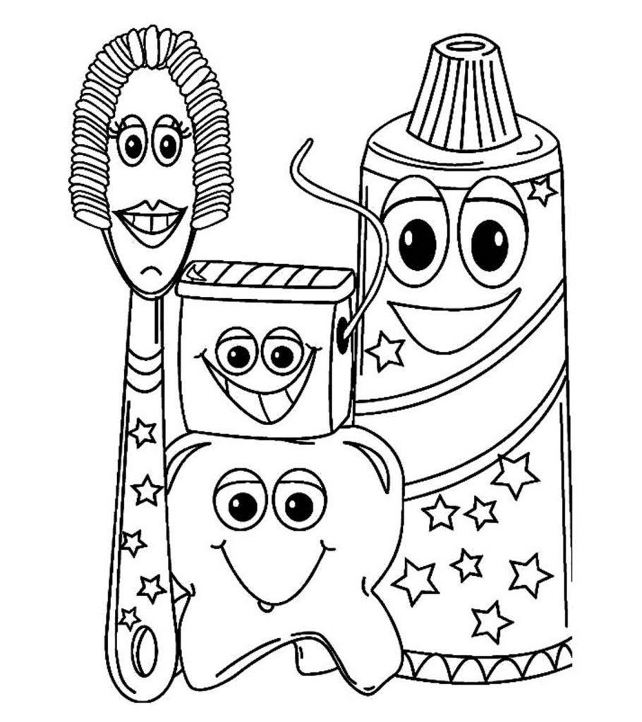 Dashing image in dental coloring pages printable