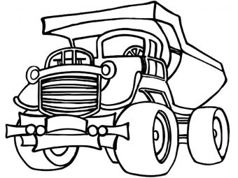 Top 10 Dump Truck Coloring Pages For Your Toddlers