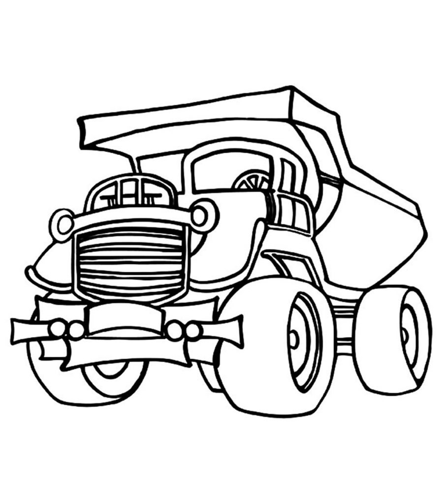 Top 10 Free Printable Dump Truck Coloring Pages Online