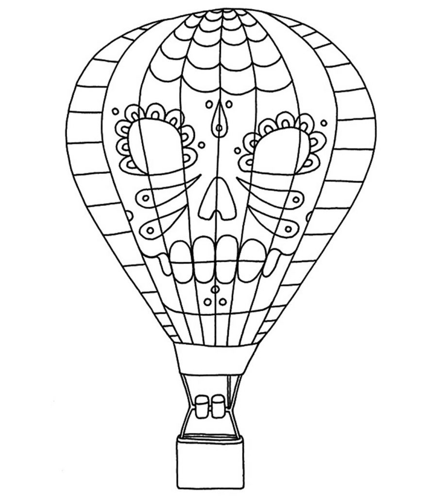 Hot Air Balloon Coloring Pages Free Printables