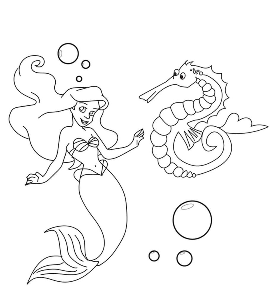 10 ticks calculator coloring book pages | Top 10 Free Printable Seahorse Coloring Pages Online