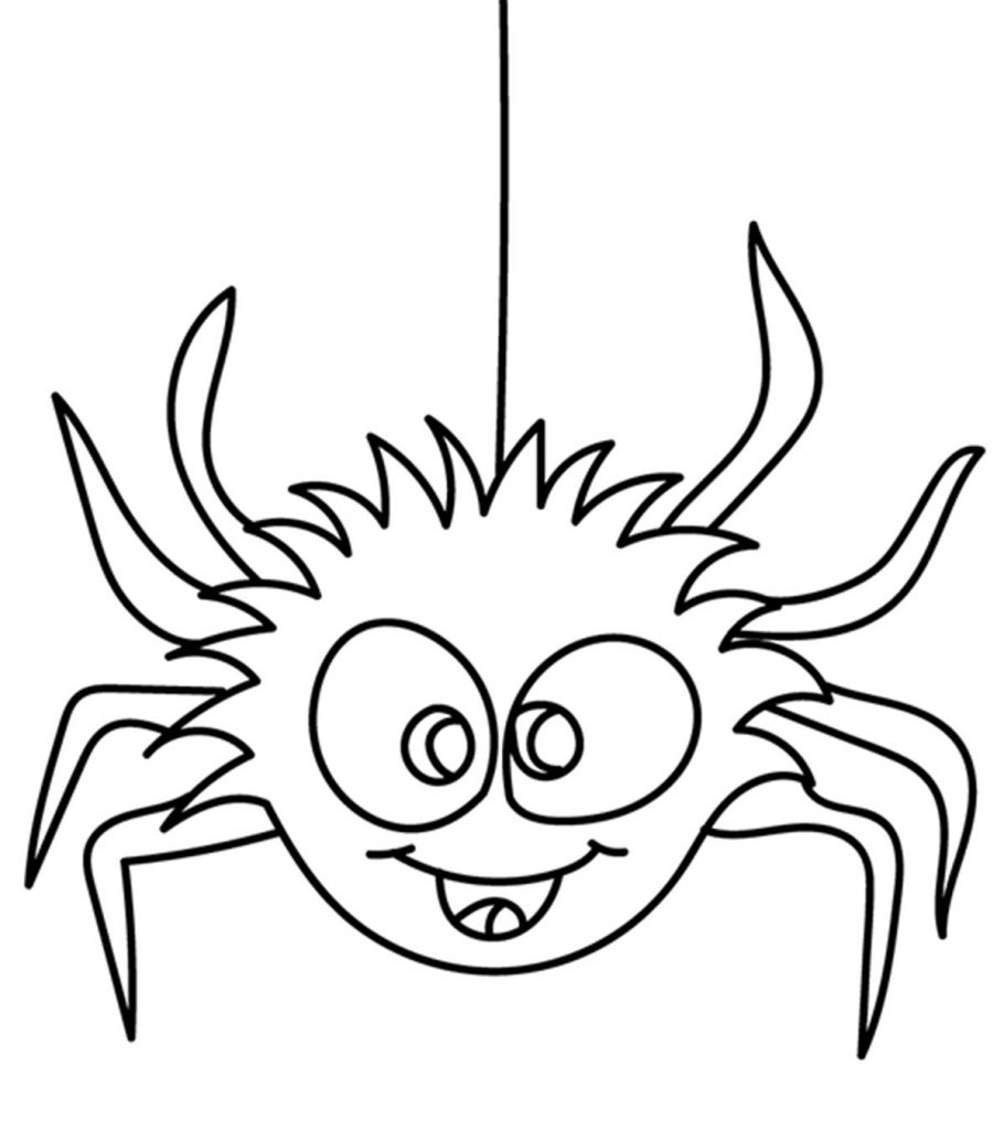 free m&m coloring pages | Top 10 Free Printable Spider Coloring Pages Online