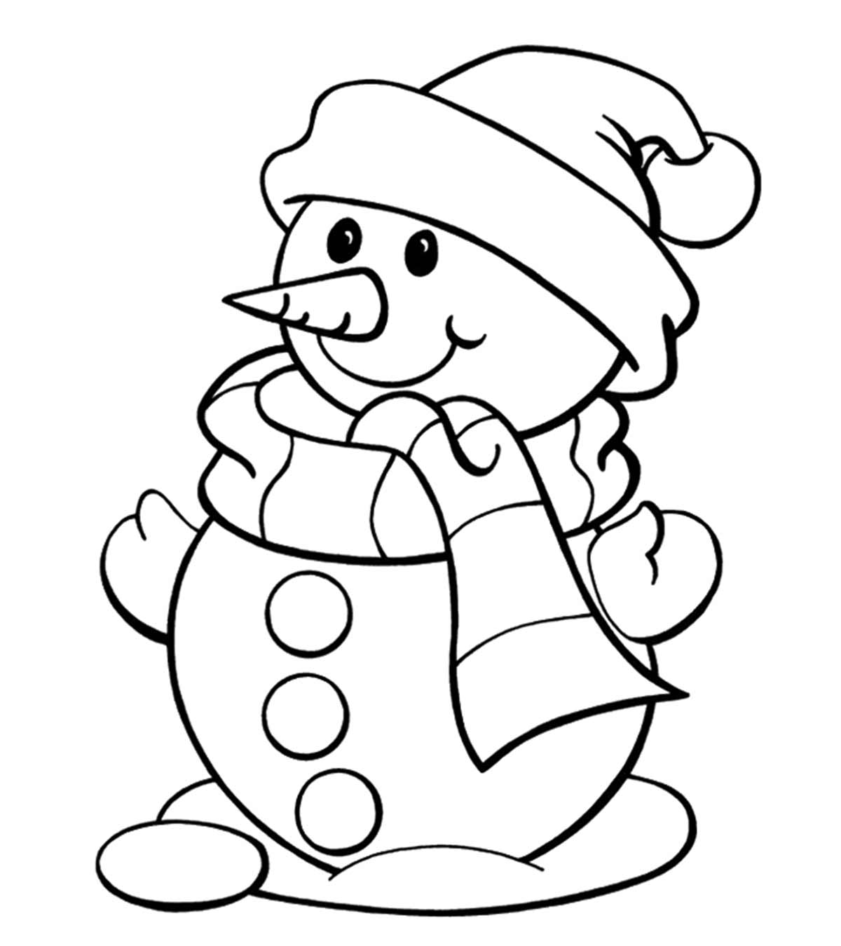 Snowman Coloring Page Pages Colouring Lehuuphuc To ...