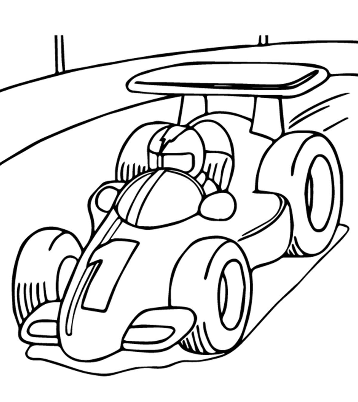 Top 10 Race Car Coloring Pages For Your Little Ones
