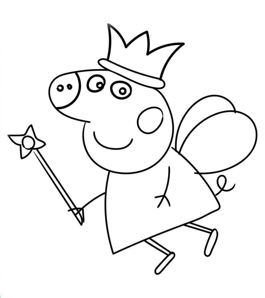 peppa pig coloring pages birthday balloon | Top 35 Free Printable Peppa Pig Coloring Pages Online