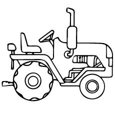 free tractor coloring sheets tractor