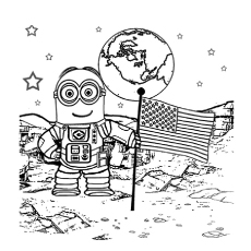 walking on the moon astronaut coloring pages