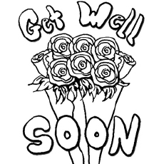 Free Printable Get Well Soon Flowers Coloring Pages