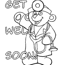 Teddy Doctor Coloring Pages