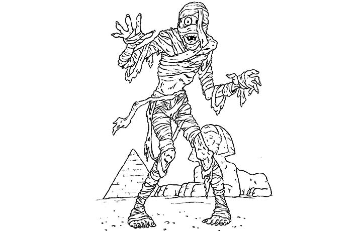 Unusual Ancient Egypt Mummy Coloring Pages Contemporary Example