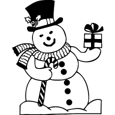 abominable snowman coloring pages - Snowman Printable Coloring Pages