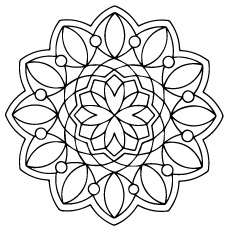 Mandala Color Coloring Pages Advanced Advanced Mandala Coloring ... | 230x230