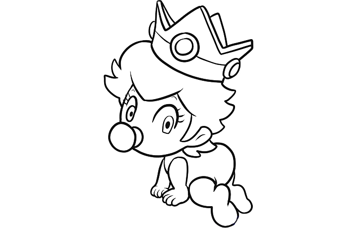 elegant baby princess peach coloring pages with princess peach coloring pages