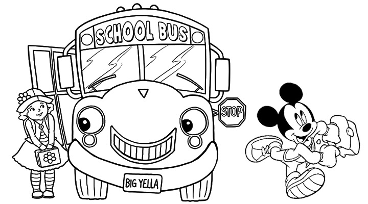 Free back school coloring pages