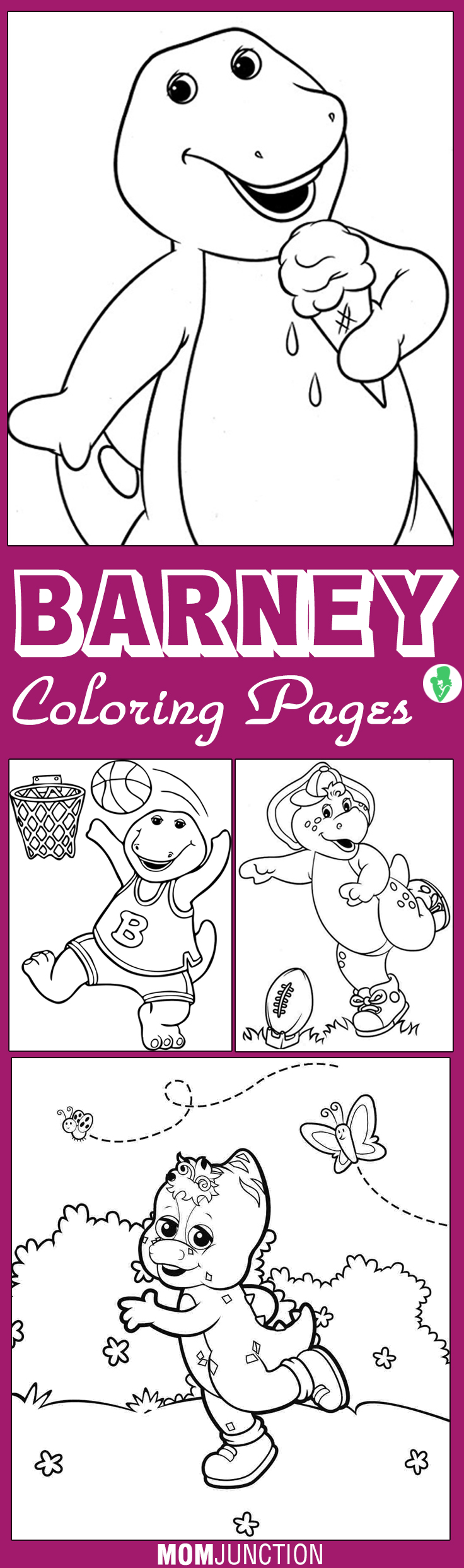 top 10 free printable barney coloring pages online