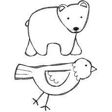 Brown Bear Brown Bear math dice game. Children roll the dice, name ... | 230x230