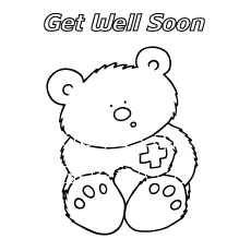 Get Well Soon Coloring Pages To Keep Your Toddler Busy 0089286 on santa card coloring pages