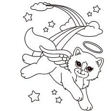 Lisa Frank Shopping Coloring Pages. Adventurous Markie. Adventurous Markie.  Beautiful Cat Angel