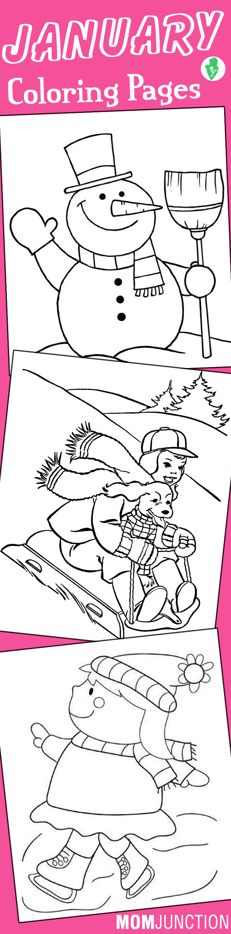 Coloring pages for january -  Page Skatingjpg January