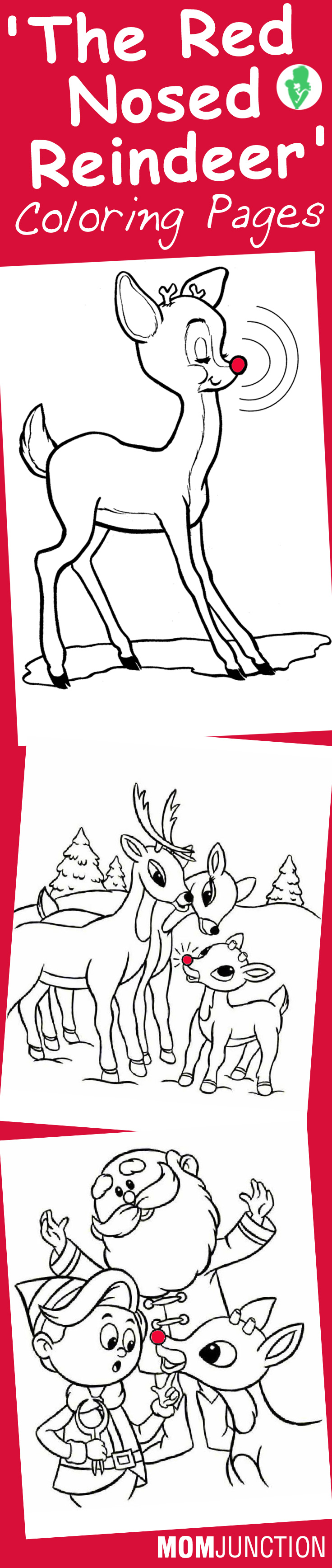 Free printable coloring pages rudolph red nosed reindeer - Top 20 Free Printable Rudolph The Red Nosed Reindeer Coloring Pages Online