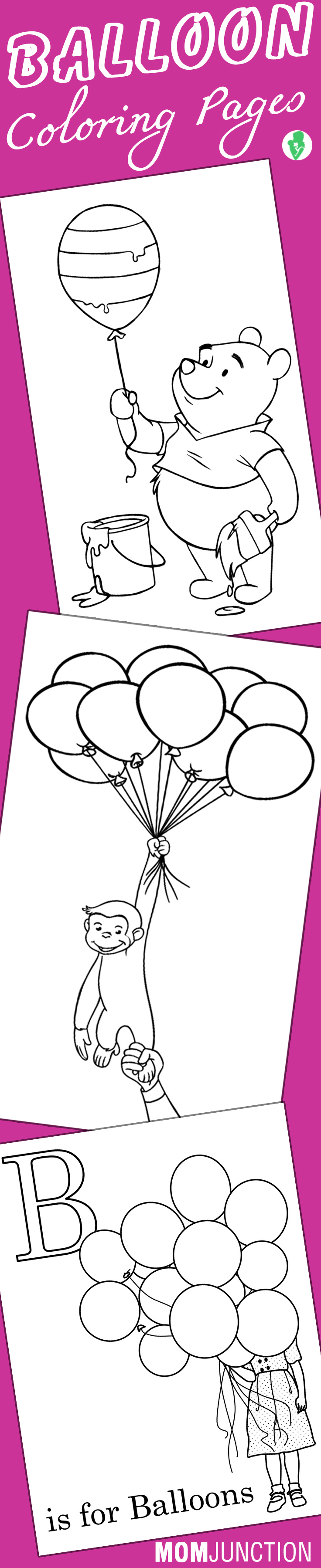 Balloon Coloring Pages For Toddlers Coloring Printable Coloring