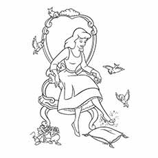 beautiful princess barbie coloring pages - Princess Coloring Page