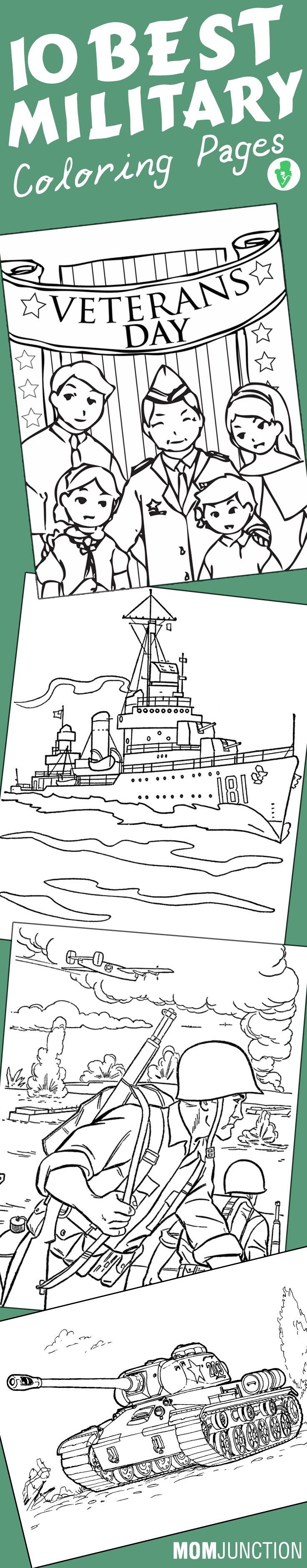 military coloring pages free printables momjunction - Patriotic Military Coloring Pages