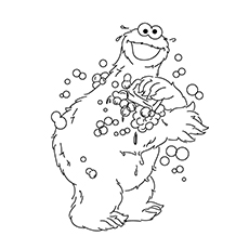 cookie-monster-bobble coloring pages
