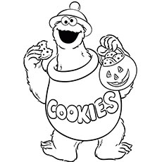 cookie monster coloring - Cookie Monster Coloring Pages