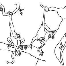 top 25 free printable monkey coloring pages for kids - Coloring Pages Monkeys Trees