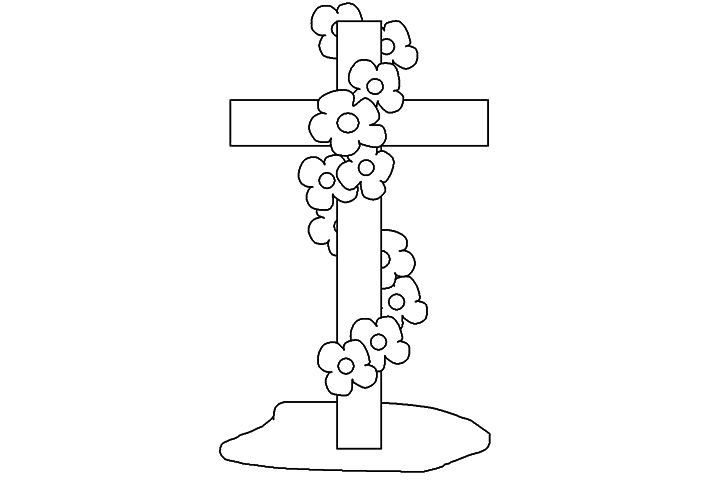 holy cross coloring pages - photo#14